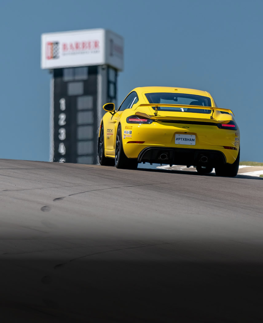 Advanced Level Course image - yellow porsche on track