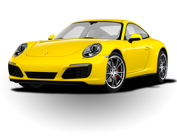 Yellow 911 Carrera 4S