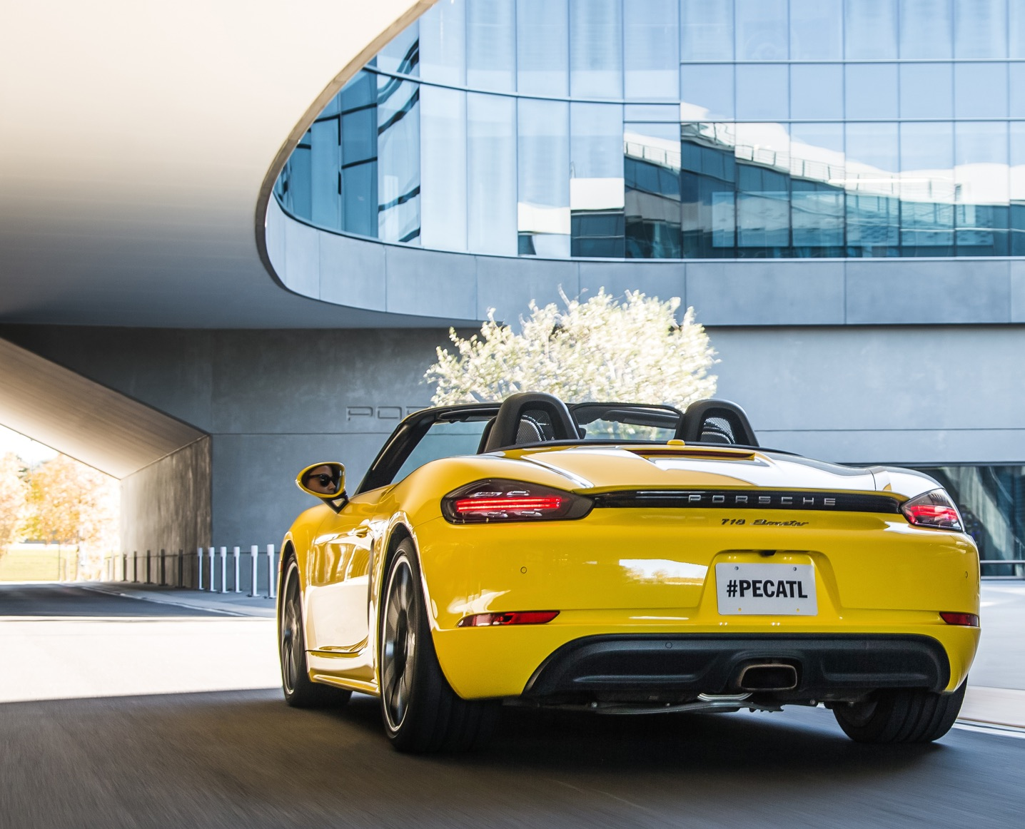 Yellow 718 Boxster