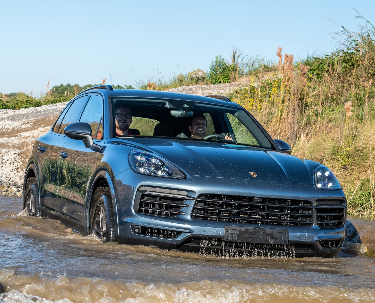 Silver Cayenne off road