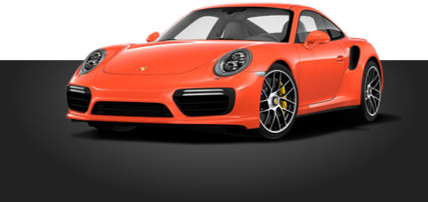 Orange Porsche 911 Turbo S