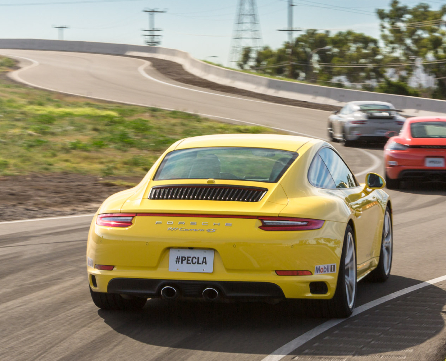 Yellow Carrera on the 2 verse 4 driving experience