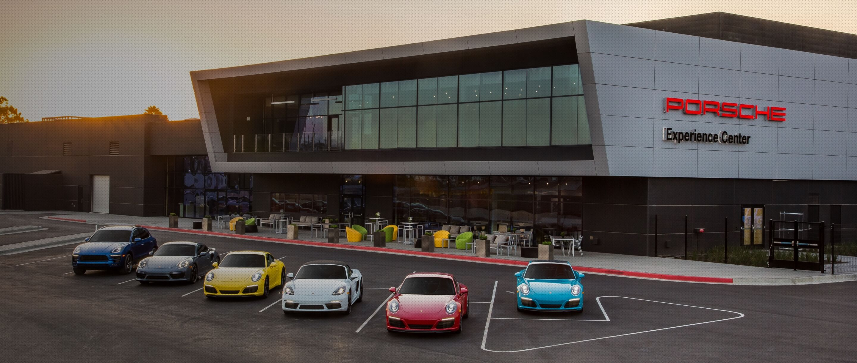 Porsche Experience Center Los Angeles Facilities and Venue header desktop